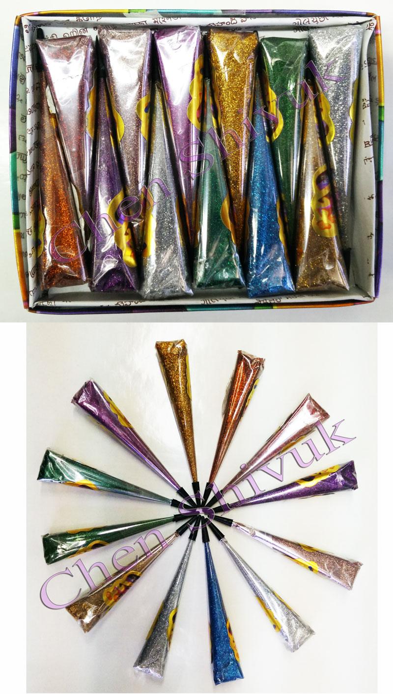 ג'ל נצנצים 12 יח בצבעים