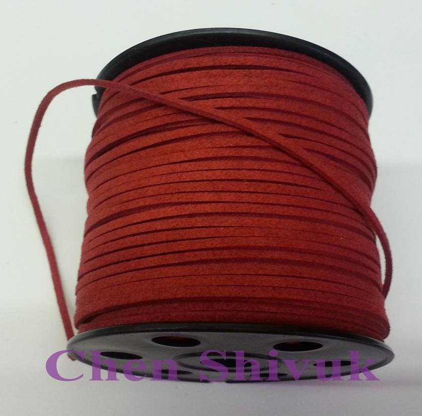 חוט עור אדום 06