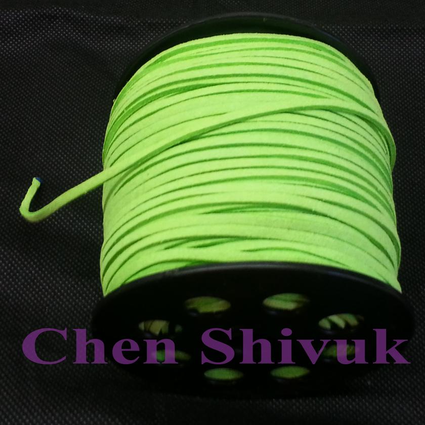 חוט עור ירוק 10