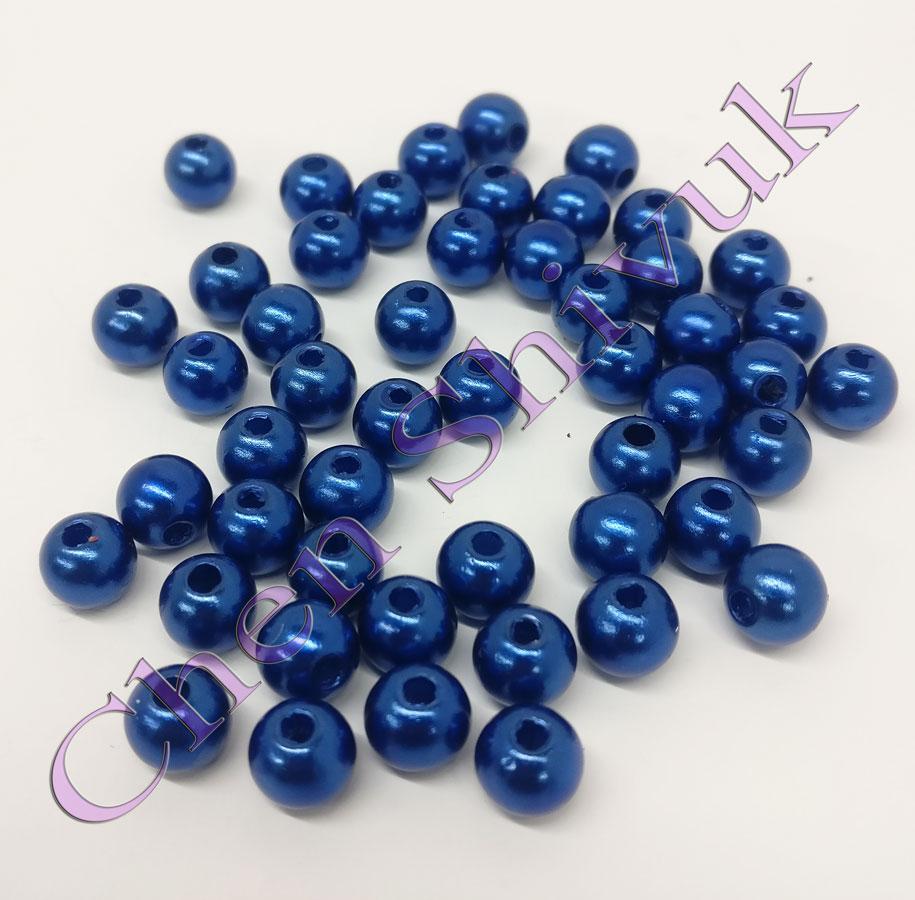 חרוז-פנינה-8ממ-כחול