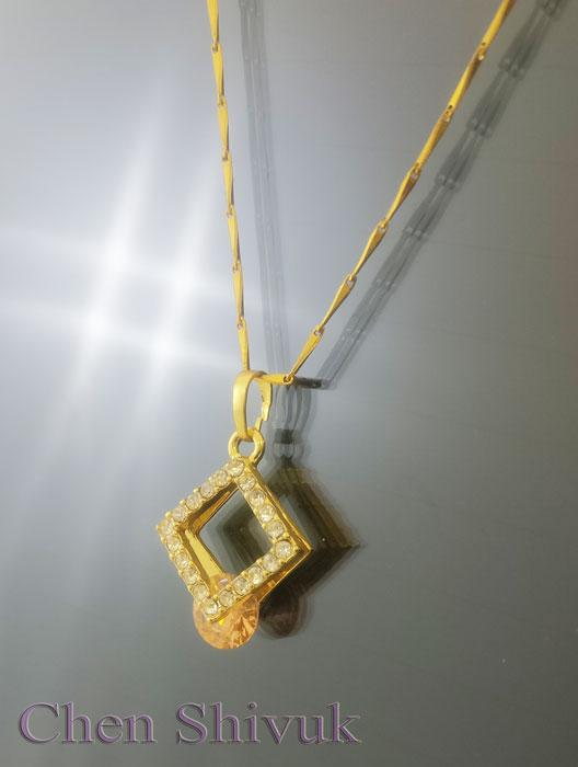 שרשרת-גולדפילד-ריבוע-זירקונים-עם-זירקון-צהוב