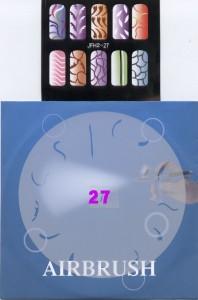 שבלונות ציפורניים מס' 27