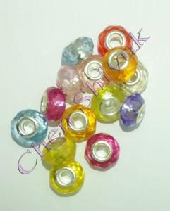 חרוז-פלסטיק-אירופאי מיקס   צבעים-8X14ממ