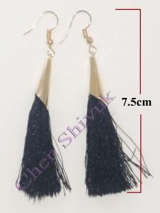 עגיל-חוטים-שחור-קונוס-7.5